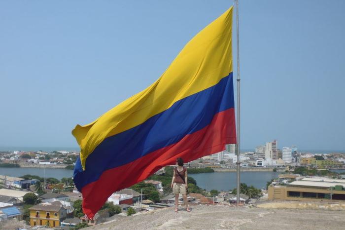 Colombia Cartagena de Indias Castillo San Felipe De Barajas Flag