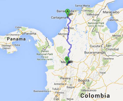 Colombia Medellín Cartagena