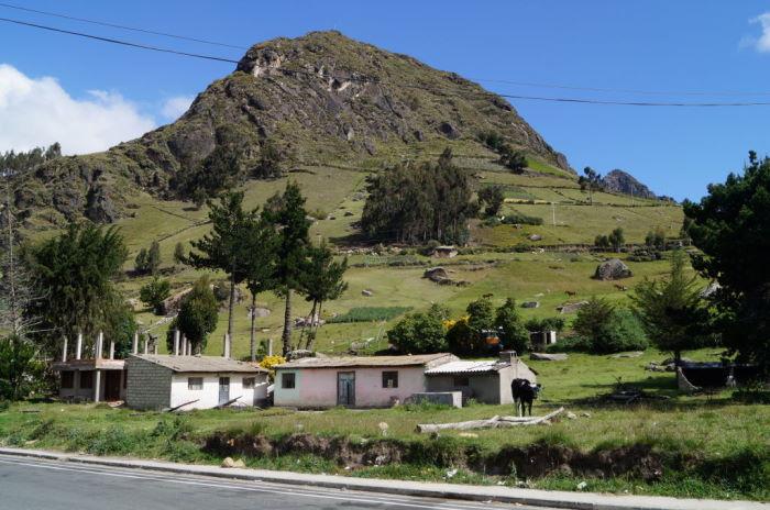 Around Quilotoa crater landscape