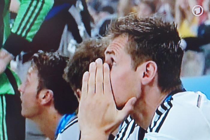 Miroslav Klose thinking Maracanã Rio de Janeiro World Cup 2014