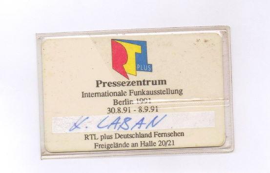 Berlin Internationale Funkausstellung 1991 RTL