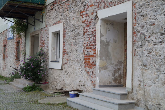 Passau Hochwasserschäden Verputzung Häuser