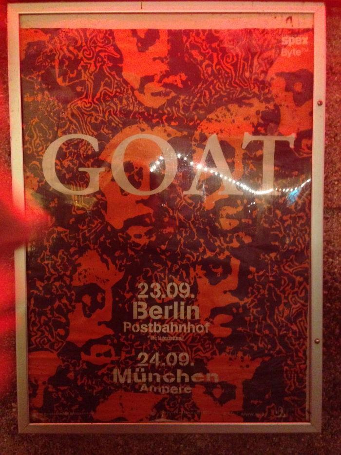 Goat Band Munich Muffathallte Ampere 2014 Poster