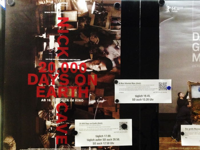Monopol Kino München Filmplakat 20.000 Days On Earth