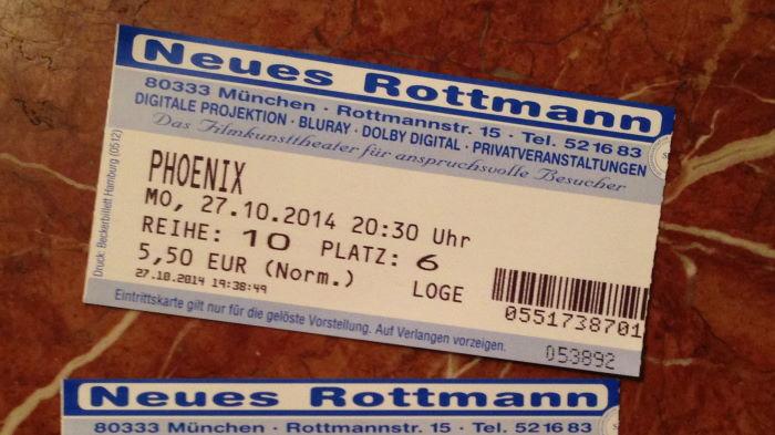 Kinokarte Phoenix München