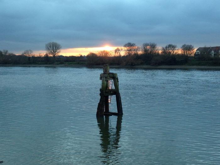 River Thames London Winter Sunset