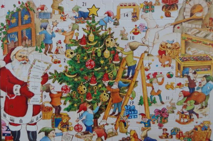 Adventskalender 2014 Marzipan mit Weihnachtsbaum