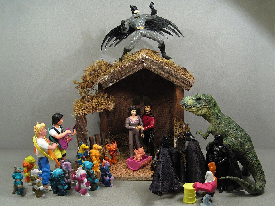 Comic Figures Christmas Nativity Set
