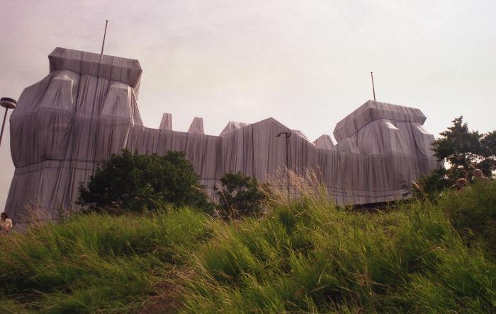 Berlin Verhüllter Reichstag Juni 1995
