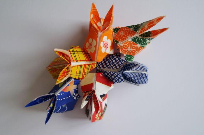 Treffen der Origami Hasen