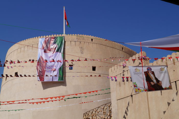 Oman, Nizwa, Fort, Sultan Qaboos, National Day