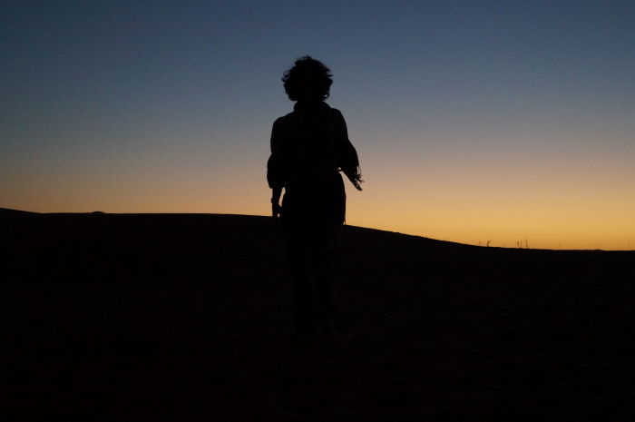 Oman, Nomadic Desert Camp Sunset