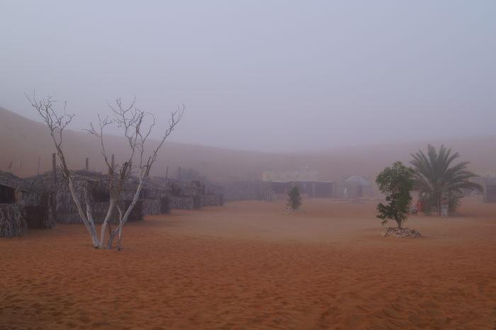 Oman Nomadic Desert Camp Fog