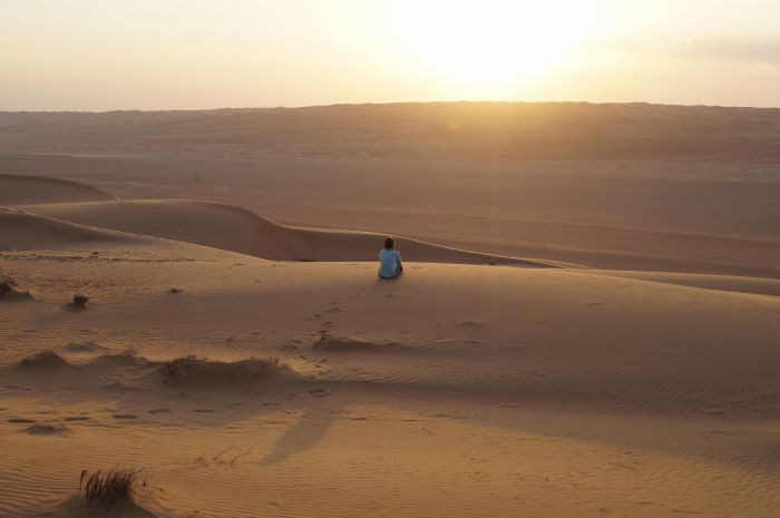 Oman, Deserst, Sunset