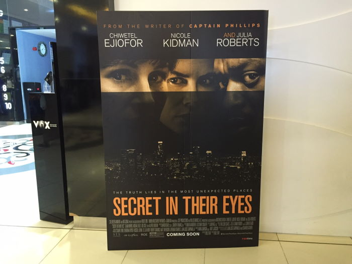 Secret in their eyes, Muscat, Vox Cinemas, Poster