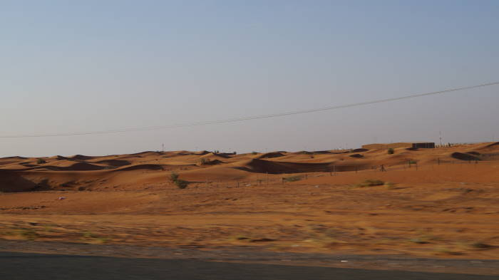 Muscat to Dubai by car desert