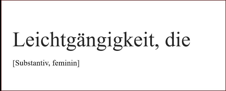 Schöne Wörter Leichtgängigkeit