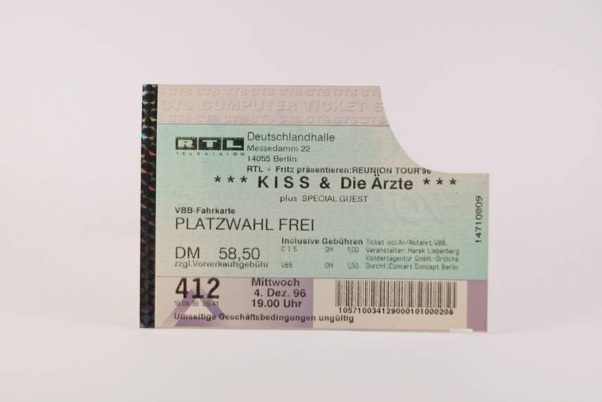 Kiss Concert Ticket 4.Dezember 1996 Berlin Deutschlandhalle