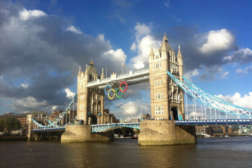 Scrapbook Tower Bridge London Olympic Rings Kristian Laban