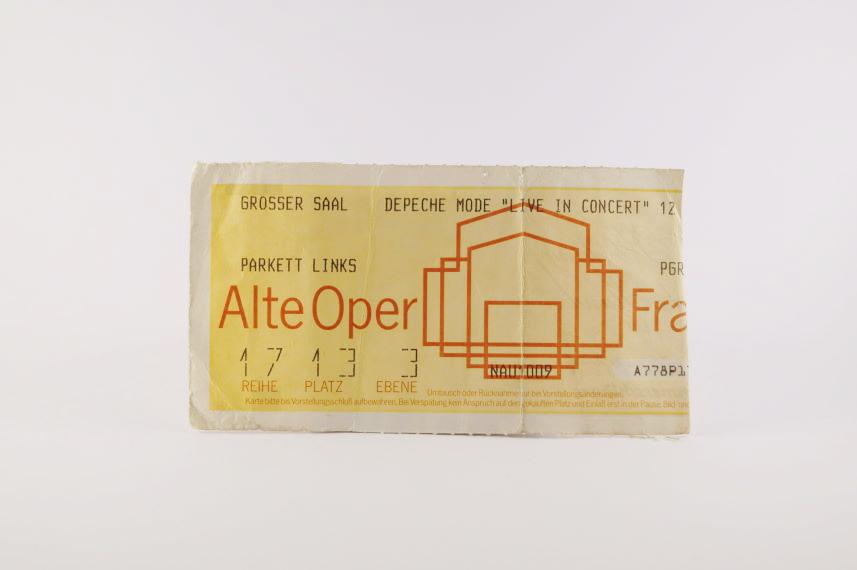 Depeche Mode Concert Ticket 1984 Frankfurt Offenbach