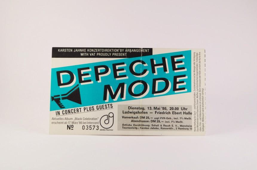 Depeche Mode Concert Ticket 1986 Ludwigshafen