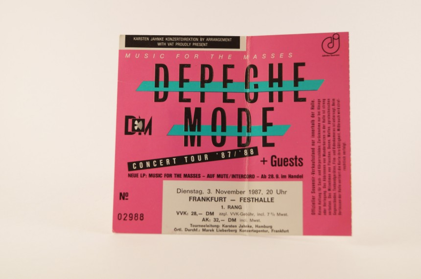 Depeche Mode Concert Ticket 1987 Frankfurt