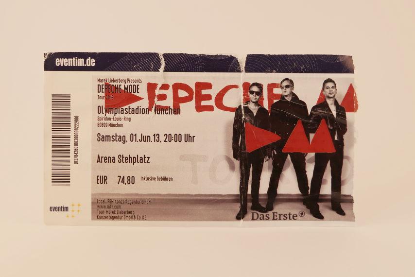 Depeche Mode Concert Ticket 2013 München