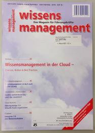 wissensmanagement September 2013 Artikel Durch Bloggen Veränderung vermitteln Andrea Kaiser und Kristian Laban