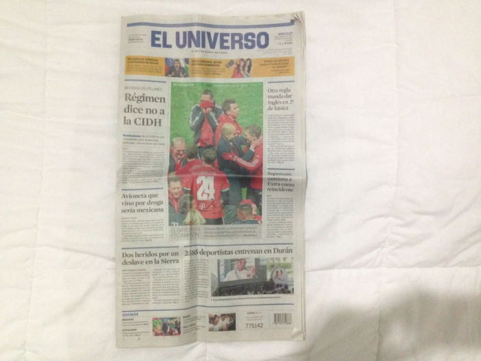 Newspaper El Unico Cover FC Bayern