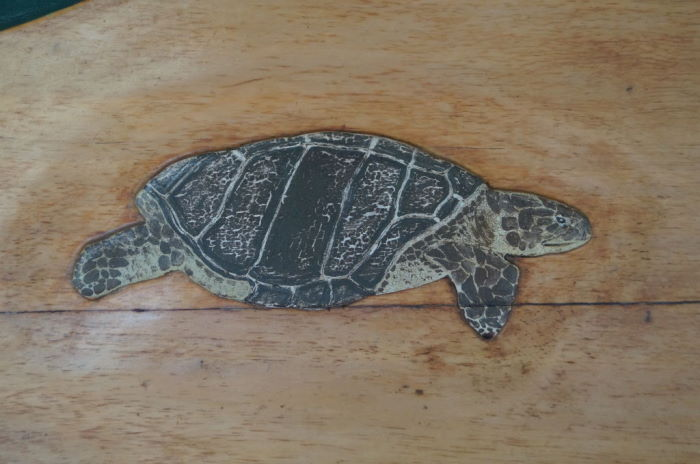 Galápagos Woodcarved Sea Turtle