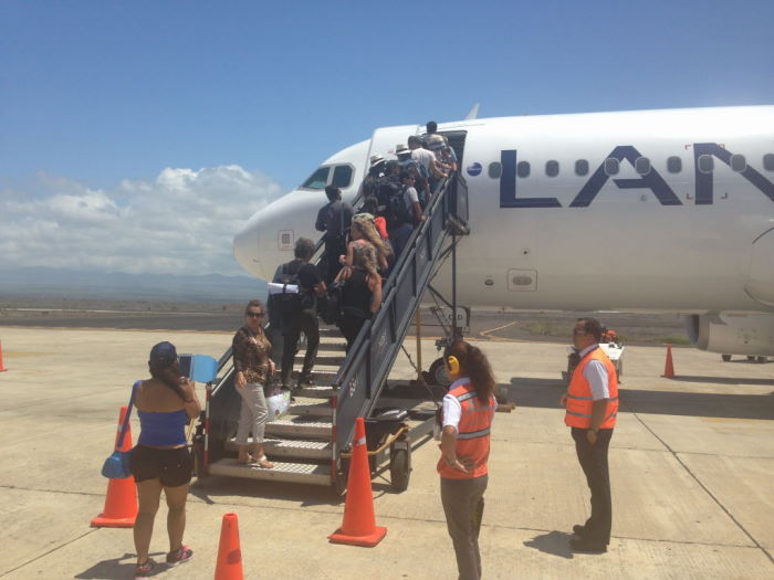 aeropuerto baltra galápagos LAN