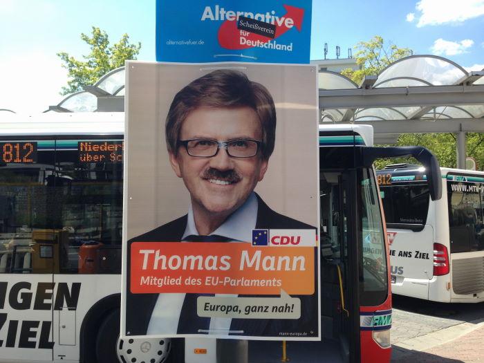 Europawahl Thomass Mann Wahlplakat Bad Soden