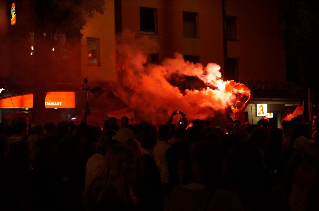 WM 2014 München Leopoldstraße Party