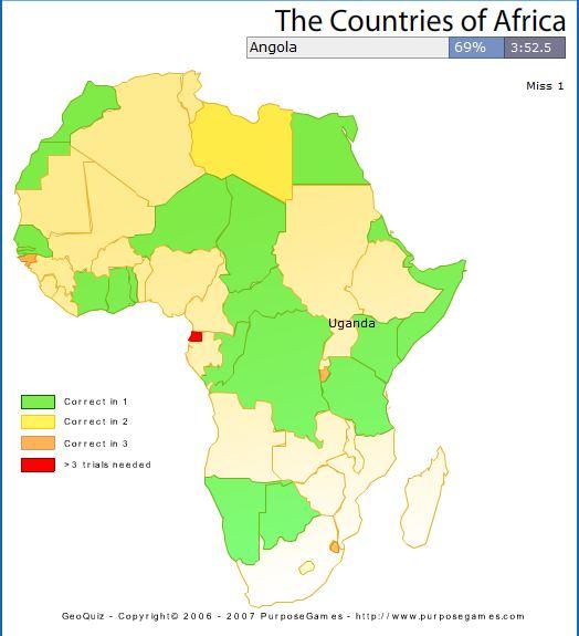 Afrika Weltekarte Geografie Spiel