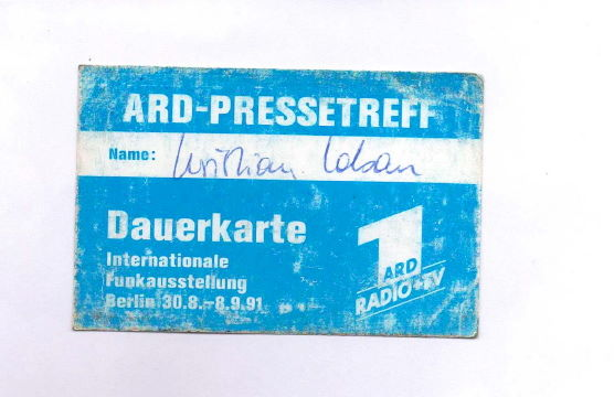 Berlin Internationale Funkausstellung 1991 ARD