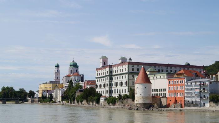 Passau von der Inn Seite gesehen