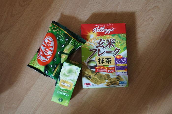 Japan KitKat und Cornflakes Geschmacksrichtung grüner Tee