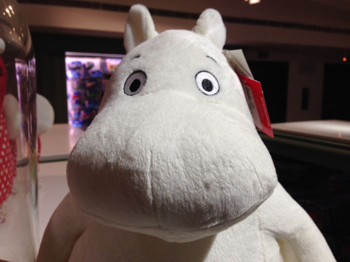 London Harrods Toy Section Mumin Face