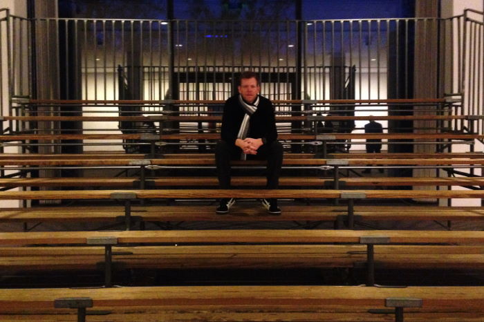 Bruce Nauman Indoor Outdoor Seating Arrangement Berlin Neue Nationalgalerie