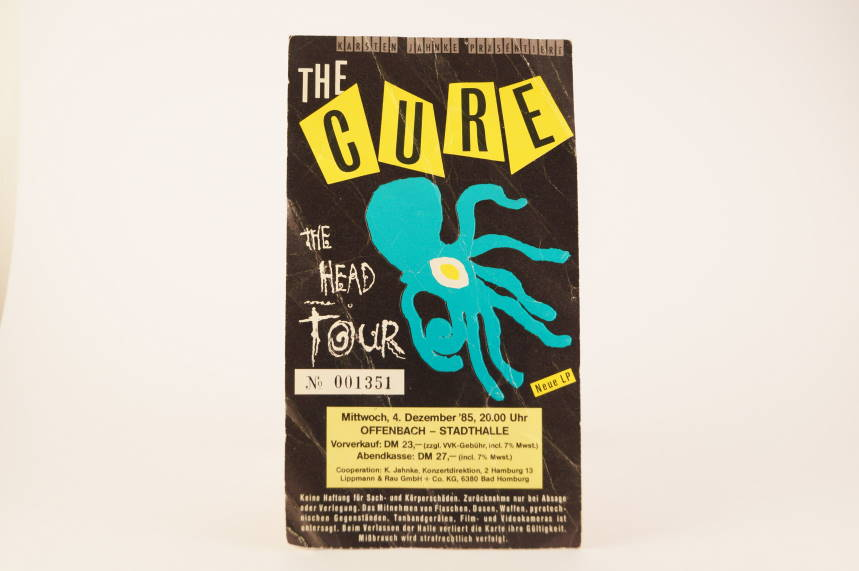 The Cure The Head Tour 1985 Concert Ticket Offenbach Germany