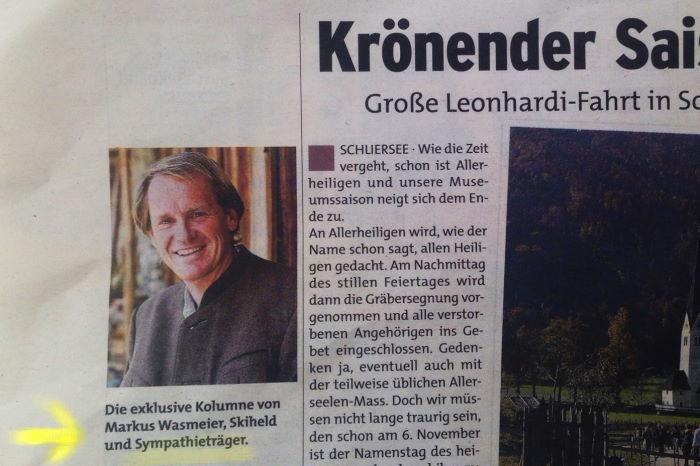 Markus Wasmeier Münchner Wochenanzeiger