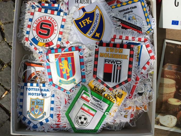 Hofflohmarkt Haidhausen München Fußballwimpel