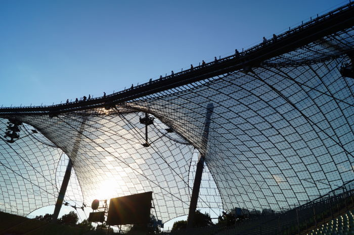 Munich Olympic Stadium Roof Climb