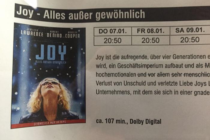 Joy, Kino, Monopol, München
