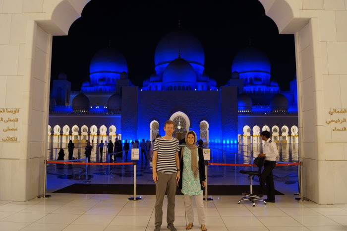 Sheikh Zayed Mosque Abu Dhabi Tourists well dressed