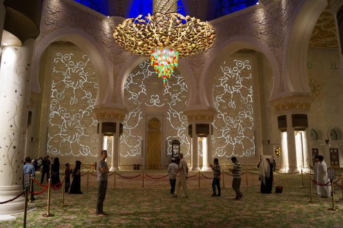 Sheikh Zayed Mosque Abu Dhabi Saal