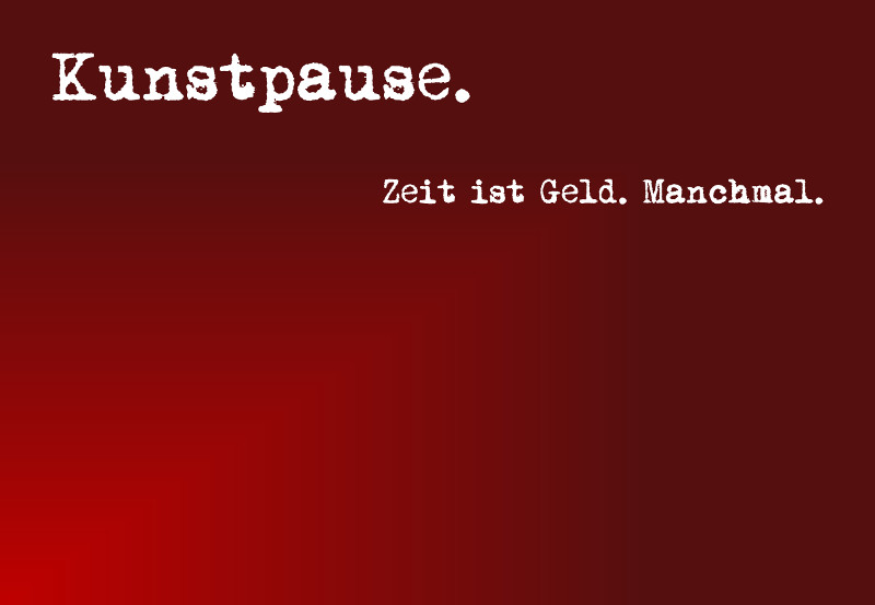 Kunstpause in rot.
